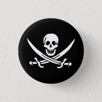 海賊旗の剣 3.2CM 丸型バッジ