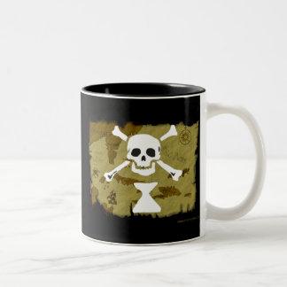 海賊旗の地図#9 ツートーンマグカップ