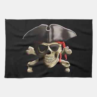 海賊旗の海賊スカル キッチンタオル