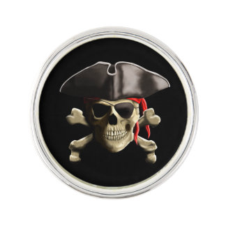 海賊旗の海賊スカル ラペルピン
