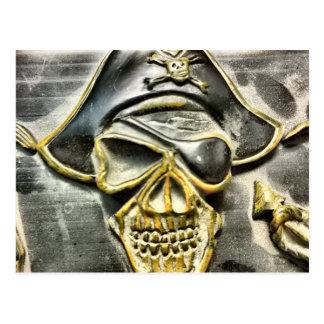 海賊旗の海賊宝物箱 ポストカード