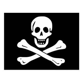 海賊旗の海賊旗の郵便はがき ポストカード