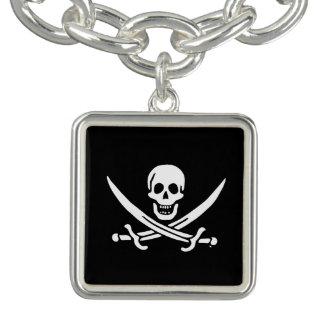 海賊旗の海賊旗 チャームブレスレット