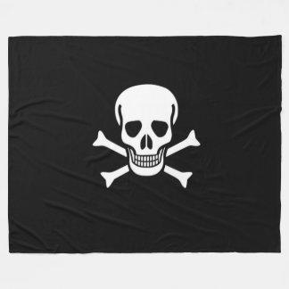 海賊旗の海賊旗 フリースブランケット