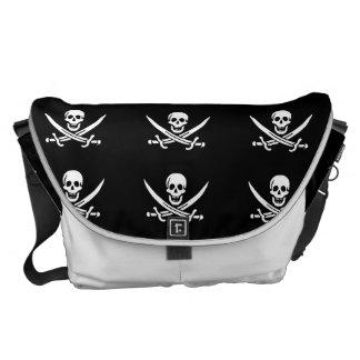 海賊旗の海賊旗 メッセンジャーバッグ