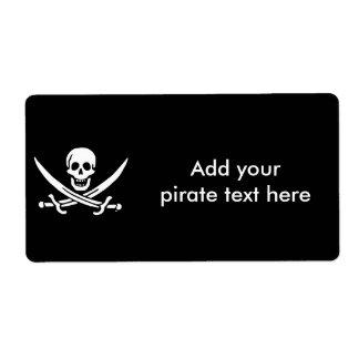 海賊旗の海賊旗 ラベル