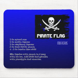 海賊旗の飲み物のレシピ マウスパッド