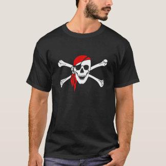 海賊旗はスカルの危険によってカスタマイズTシャツの骨を抜きます Tシャツ