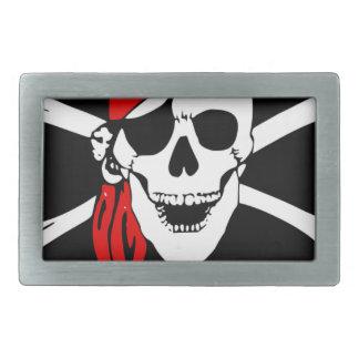 海賊旗はスカルの危険の記号の骨を抜きます 長方形ベルトバックル