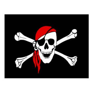 海賊旗はスカルの危険の骨を抜きます ポストカード