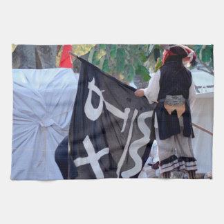 海賊旗ポスターイメージの下の取得 キッチンタオル