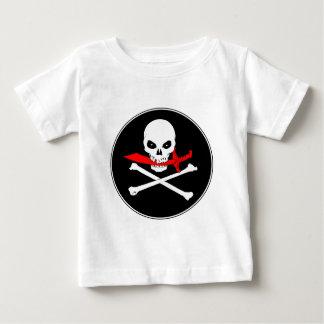海賊旗(カットラス)の幼児Tシャツ ベビーTシャツ