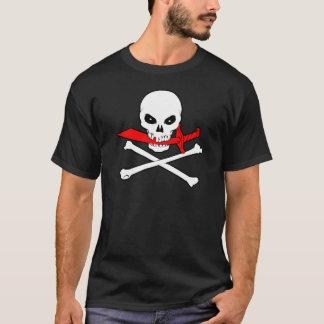 海賊旗(カットラス)の暗いTシャツ Tシャツ