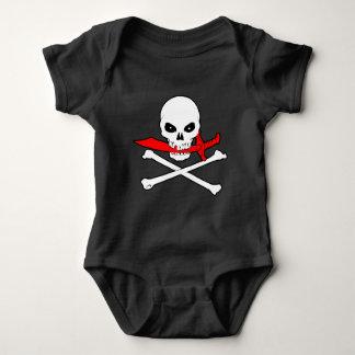 海賊旗(カットラス) ベビーボディスーツ
