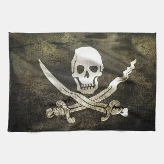 海賊旗、海賊の旗 キッチンタオル