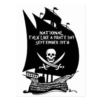 海賊日の船のような話 ポストカード
