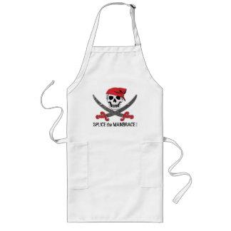 海賊海賊旗のバーはエプロン2を飲みます ロングエプロン
