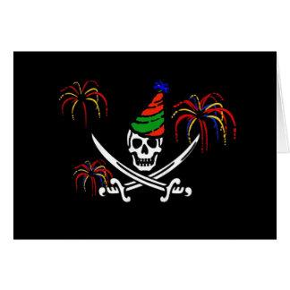 海賊海賊旗の幸せな年賀状 カード