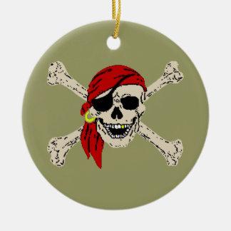 海賊海賊旗 セラミックオーナメント