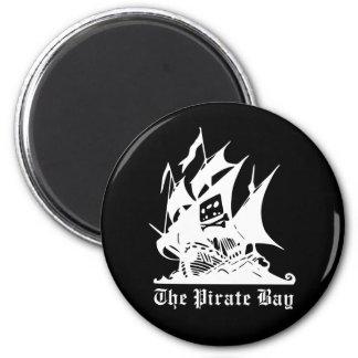 海賊湾の海賊船のロゴ マグネット