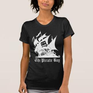 海賊湾の海賊船のロゴ Tシャツ
