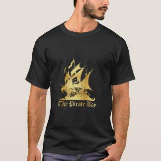 海賊湾の金ゴールドのロゴのティー Tシャツ