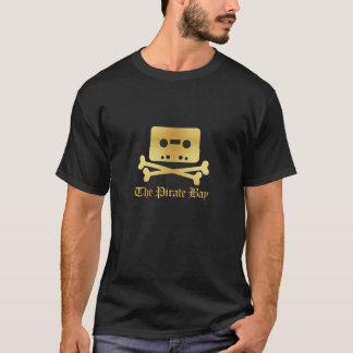 海賊湾の金ゴールドの骨が交差した図形のマウスパッド Tシャツ