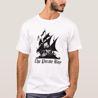 海賊湾の黒のロゴのティー Tシャツ