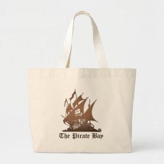 海賊湾、違法急流のインターネットの海賊行為 ラージトートバッグ