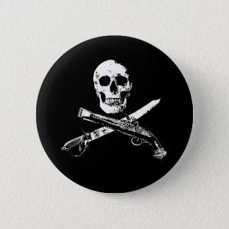 海賊生命SkullButton_1 5.7cm 丸型バッジ