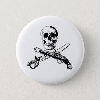 海賊生命SkullButton_3 5.7cm 丸型バッジ