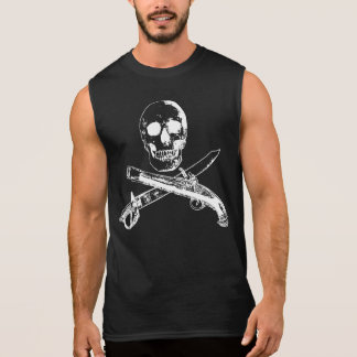 海賊生命SKULLSHIRT_4 袖なしシャツ