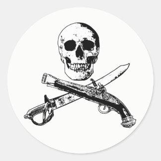 海賊生命skullsticker_2 ラウンドシール