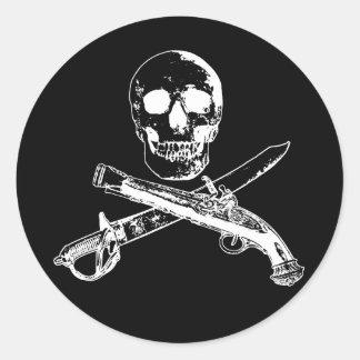 海賊生命skullsticker_3 ラウンドシール