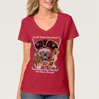 海賊禁制品の日の女性はすべて暗闇のスタイルを作ります Tシャツ
