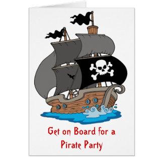 海賊船のパーティー カード