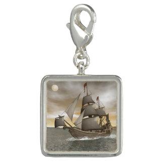 海賊船の去ること- 3Dは描写します チャーム