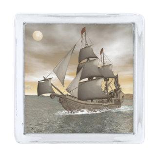 海賊船の去ること- 3Dは描写します 銀色 ラペルピン