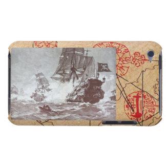 海賊船の戦い/アンティークは宝物地図を略奪します Case-Mate iPod TOUCH ケース