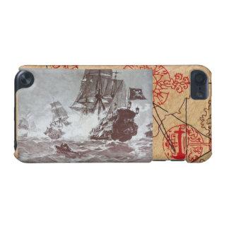 海賊船の戦い/アンティークは宝物地図を略奪します iPod TOUCH 5G ケース