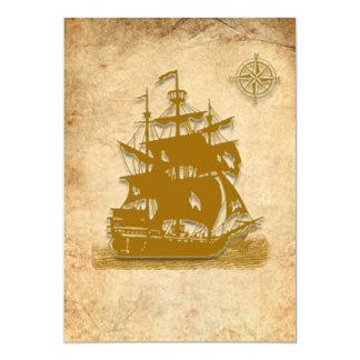 海賊船の招待状5x7 カード