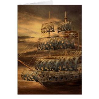 海賊船の挨拶状 カード