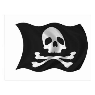 海賊船の旗 ポストカード