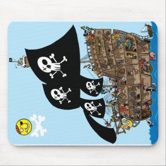 海賊船の脱出 マウスパッド