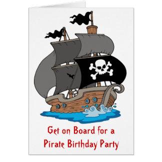 海賊船の誕生会 カード