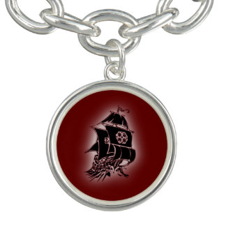 海賊船の赤のチャームブレスレット チャームブレスレット