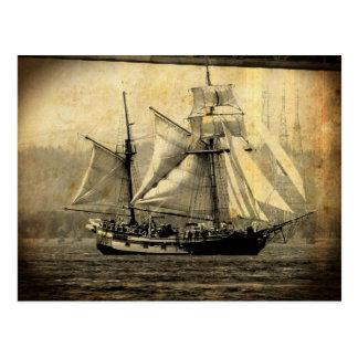海賊船の郵便はがき ポストカード