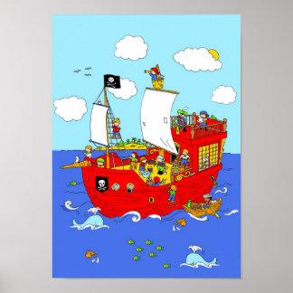 海賊船場面 ポスター