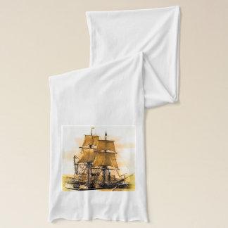 海賊船2の白いアメリカの服装の薄いスカーフ スカーフ