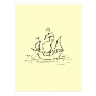 海賊船 ポストカード